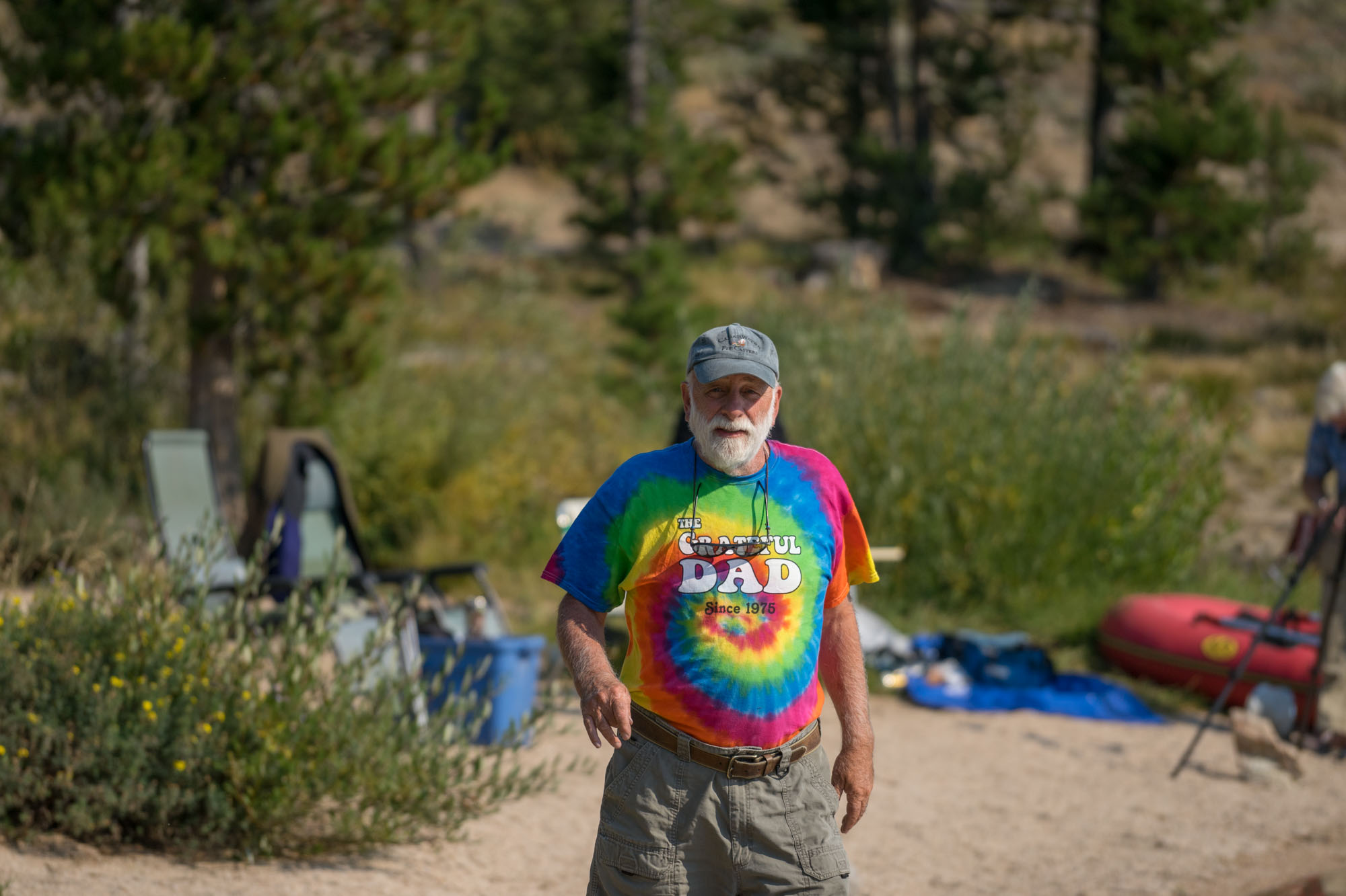 Man in Stanley Lake, Idaho.