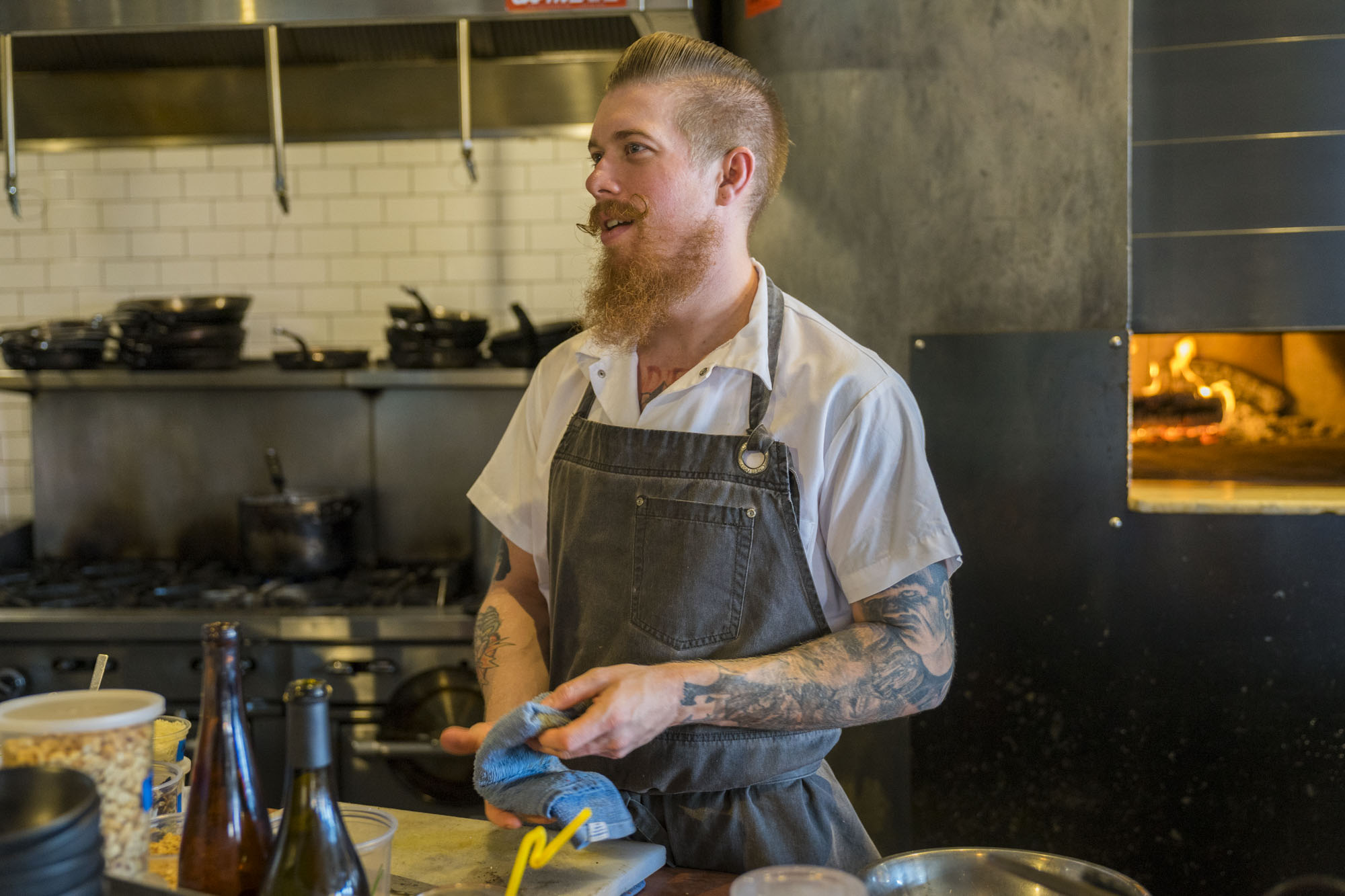 Westward's chef has tattoos and an awesome mustache.