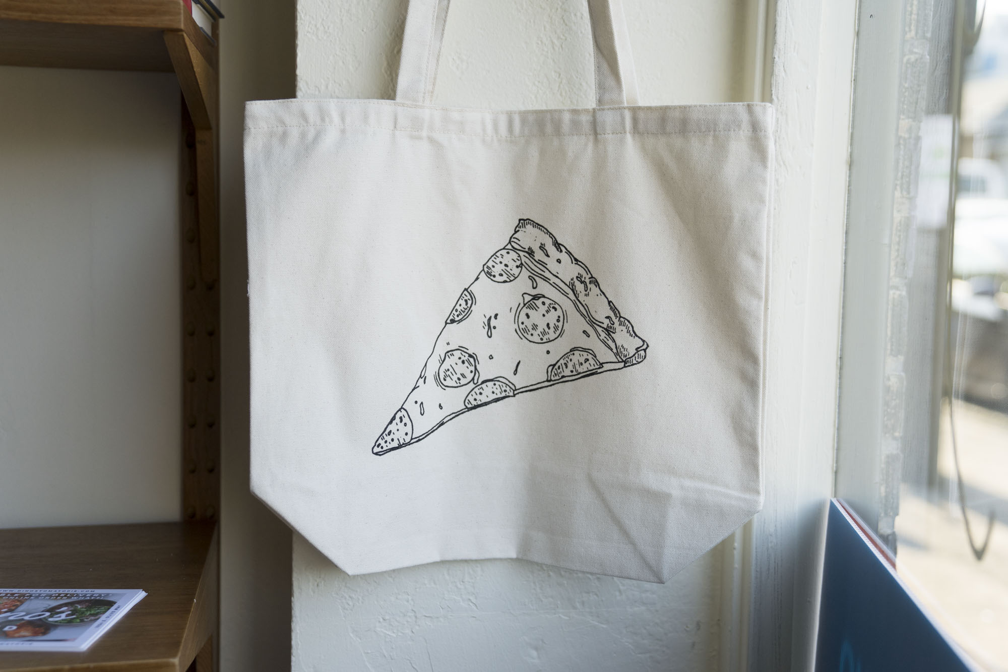 A bag for pizza at Delancey in Seattle.