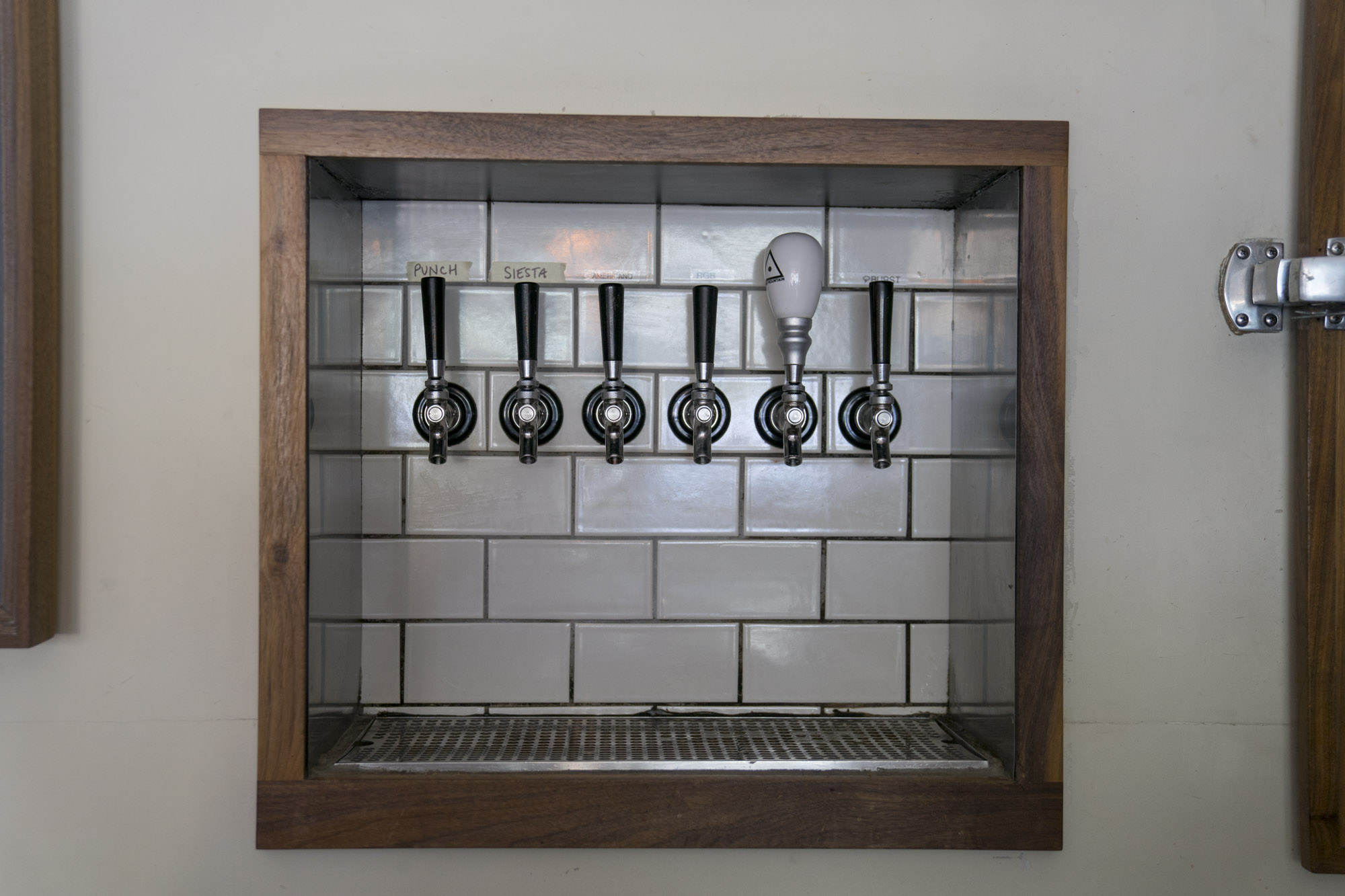 The beer taps at Essex in Seattle.