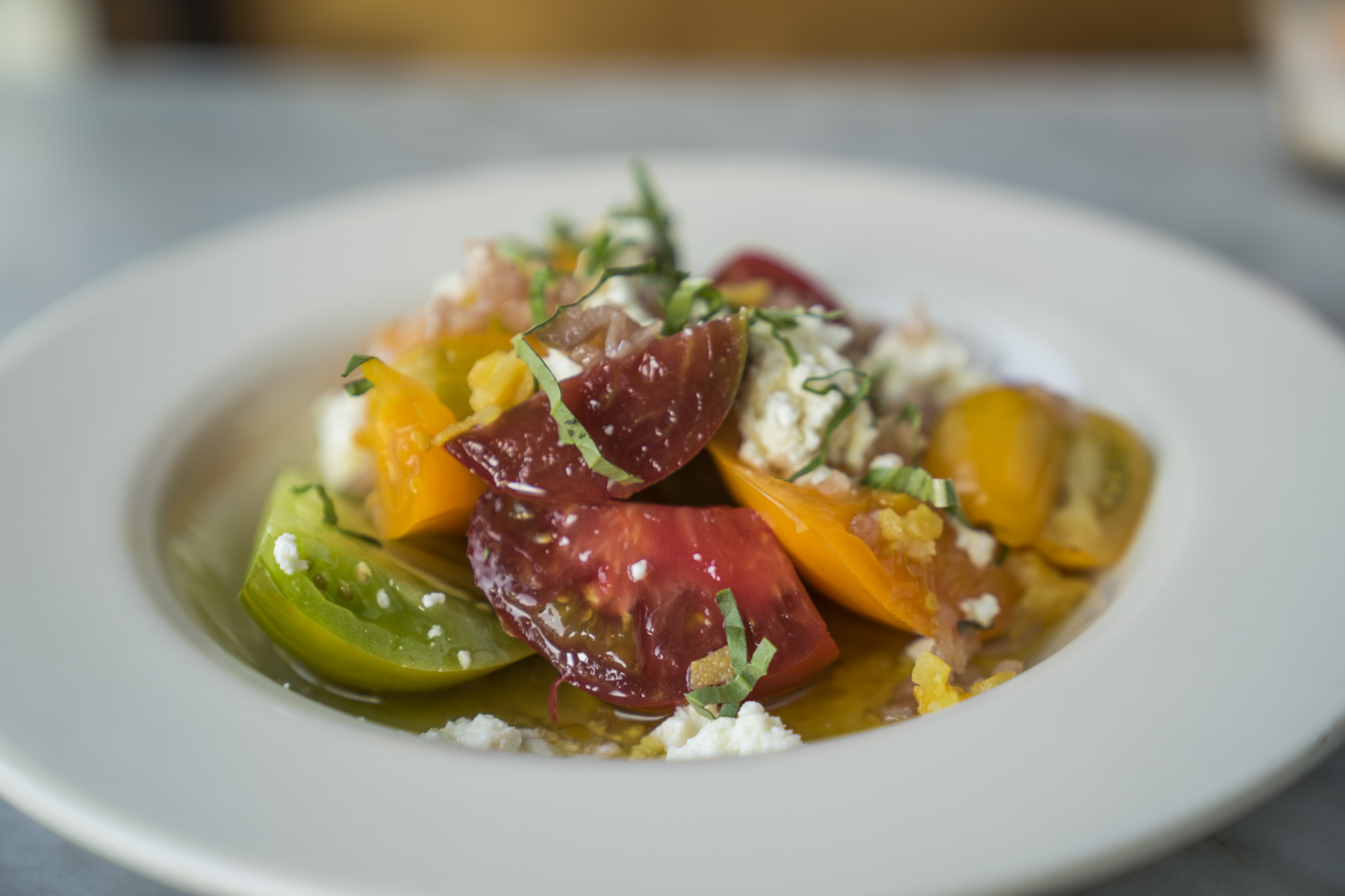 The tomato salad at Essex in Seattle.