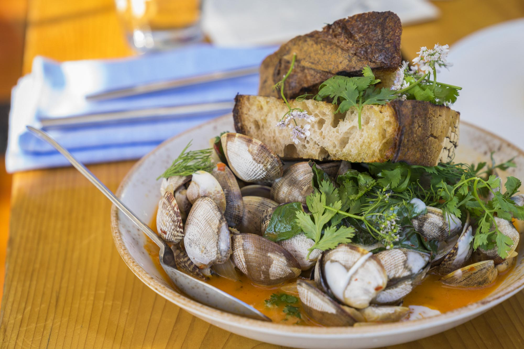 A plate of clams at Westward in Seattle.
