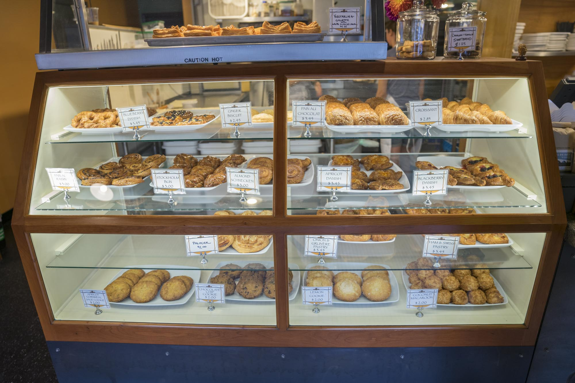 The set of pastries at Cafe Besalu in Seattle.