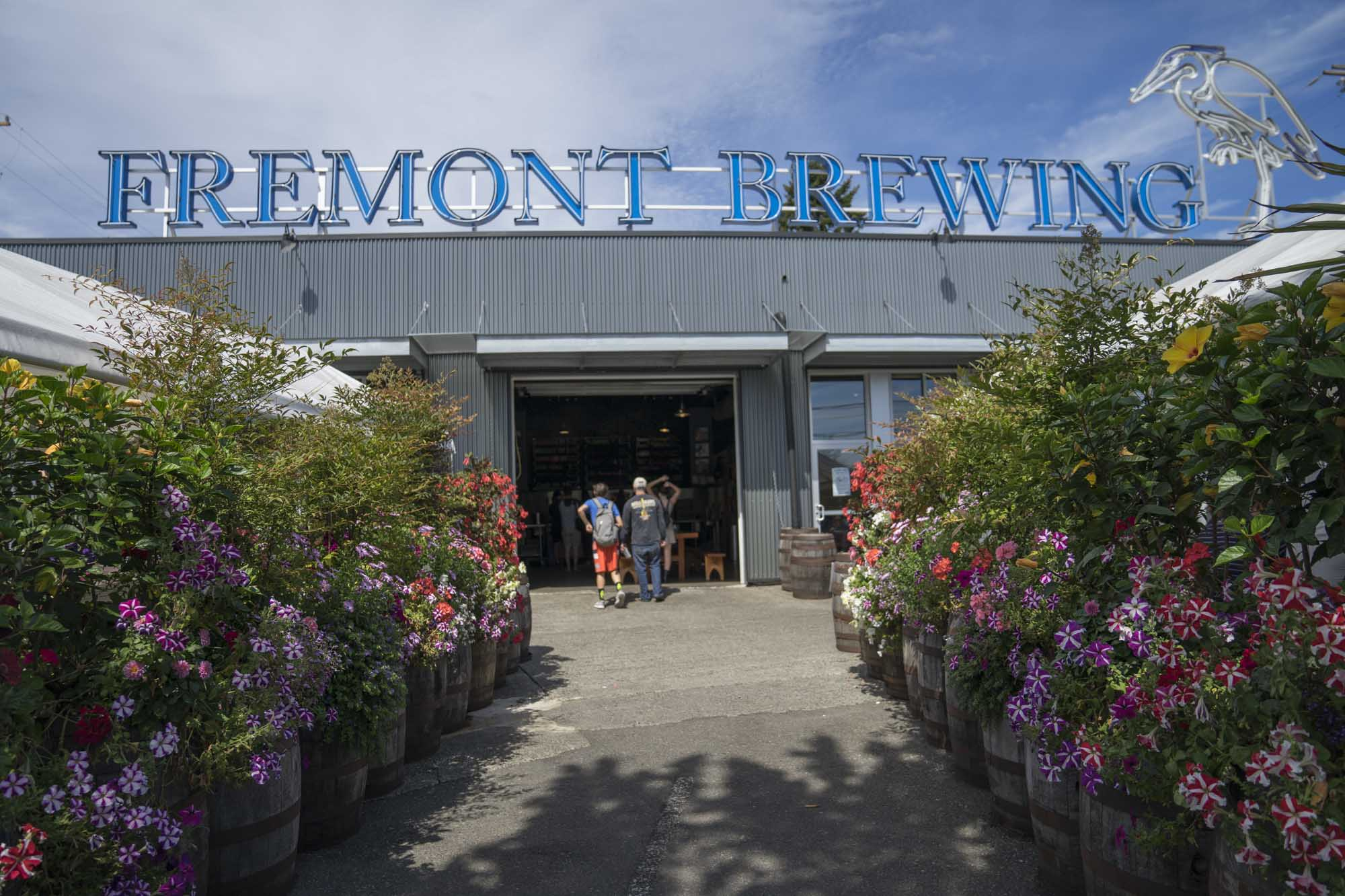 The front of Fremont Brewing in Seattle.