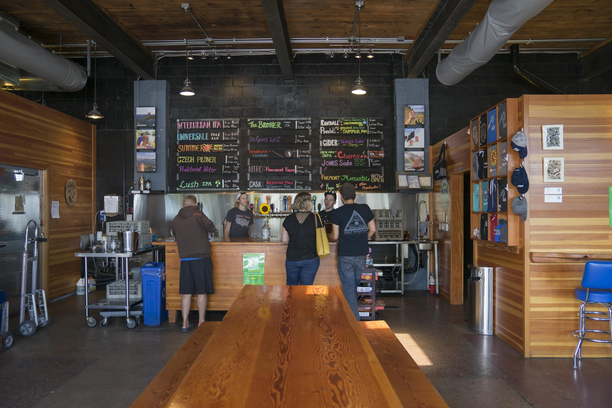 The interior of Fremont Brewing, one of Seattle's best breweries.