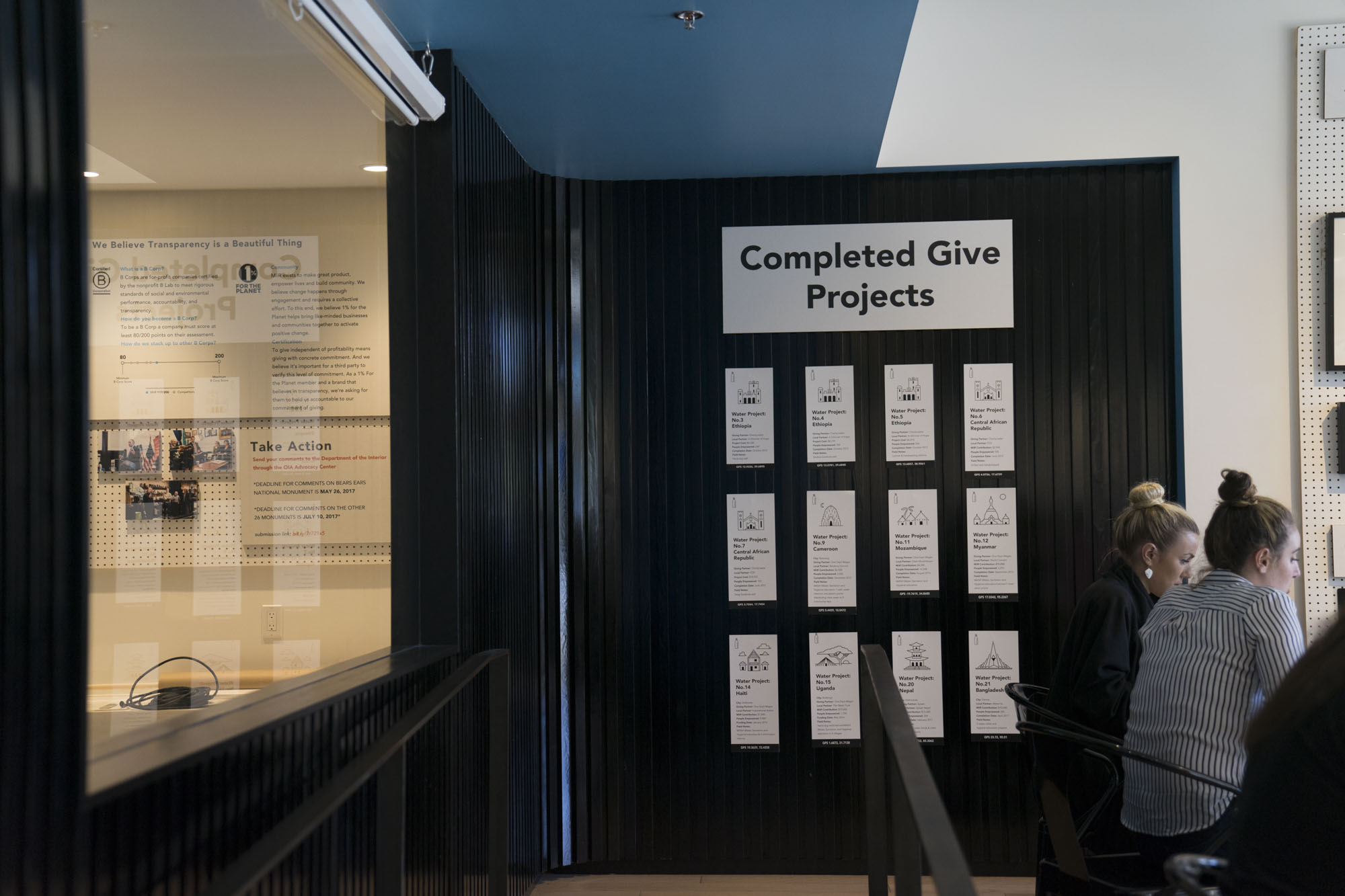 Completed Give Projects at MiiR HQ in Seattle.