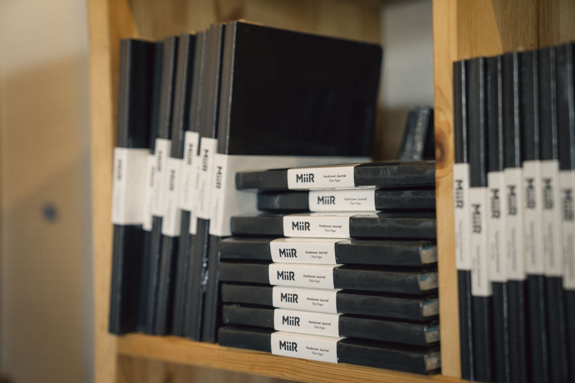MiiR notebooks for sale at MiiR Flagship in Seattle.