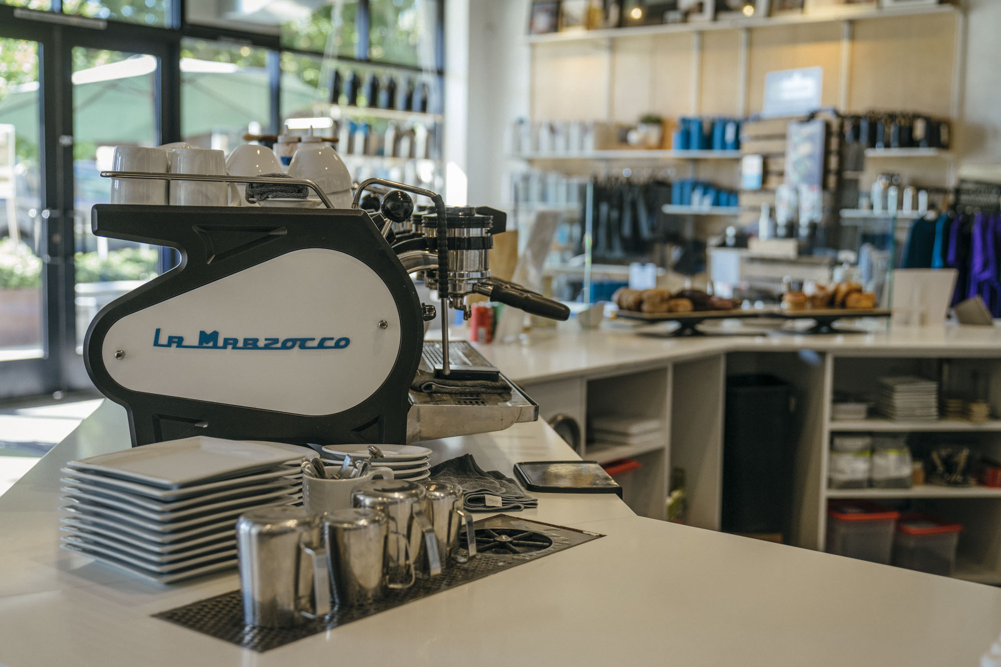 A La Marzocco machine at MiiR Flagship in Seattle.