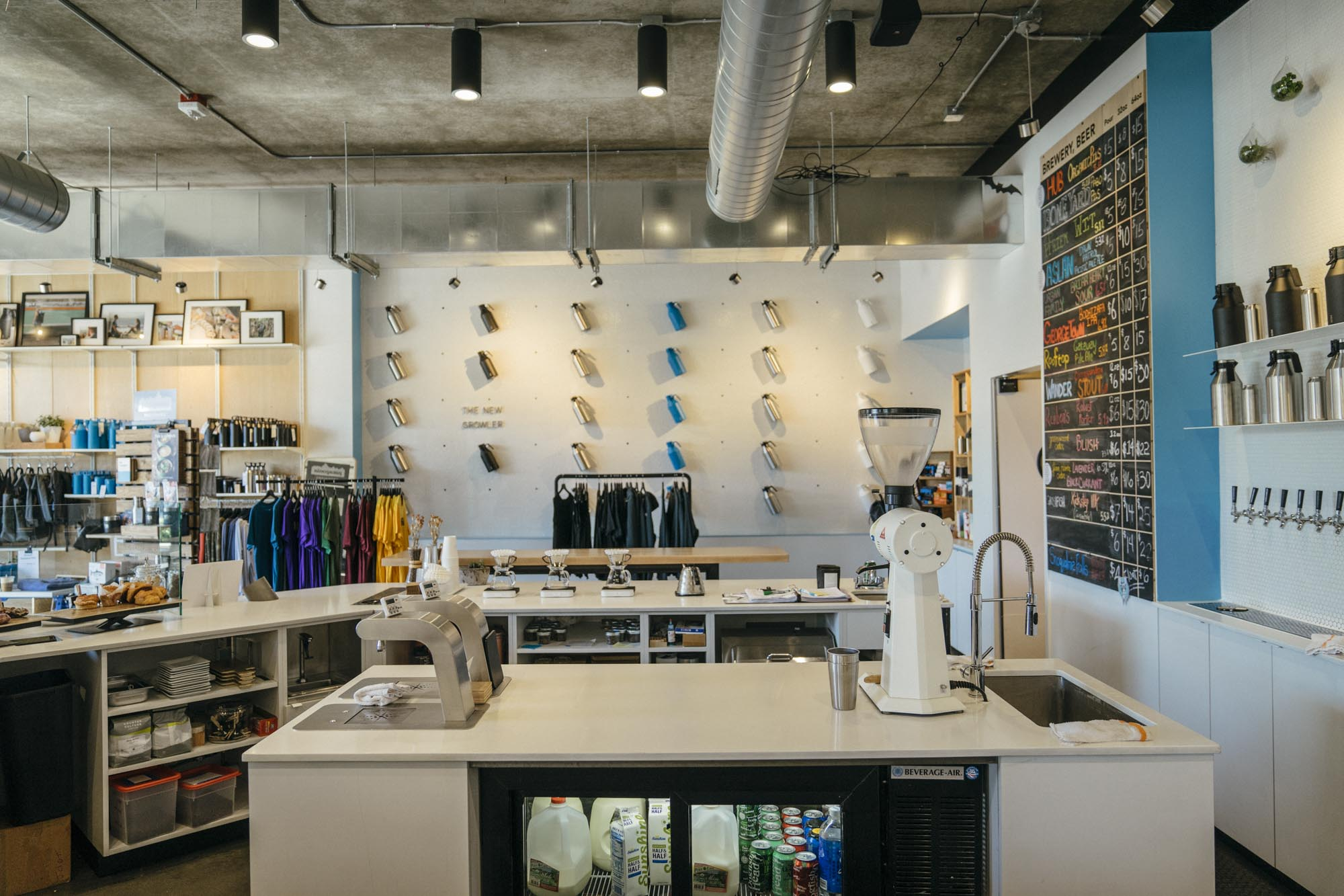 A look at the inside of MiiR Flagship in Seattle, WA.