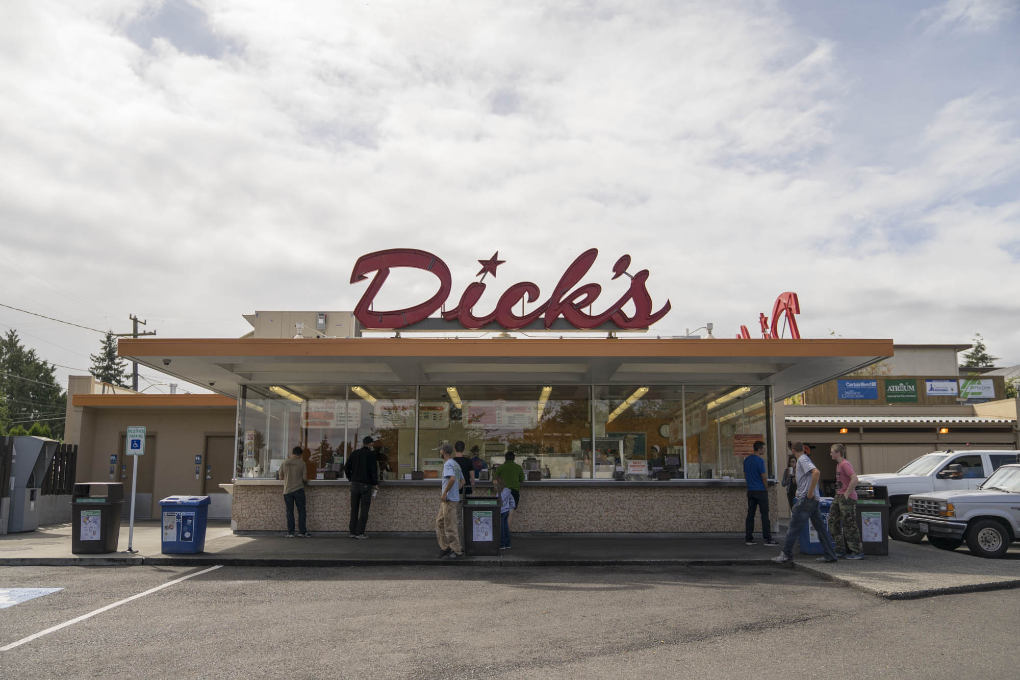 The Front of Dick's Drive In Seattle.