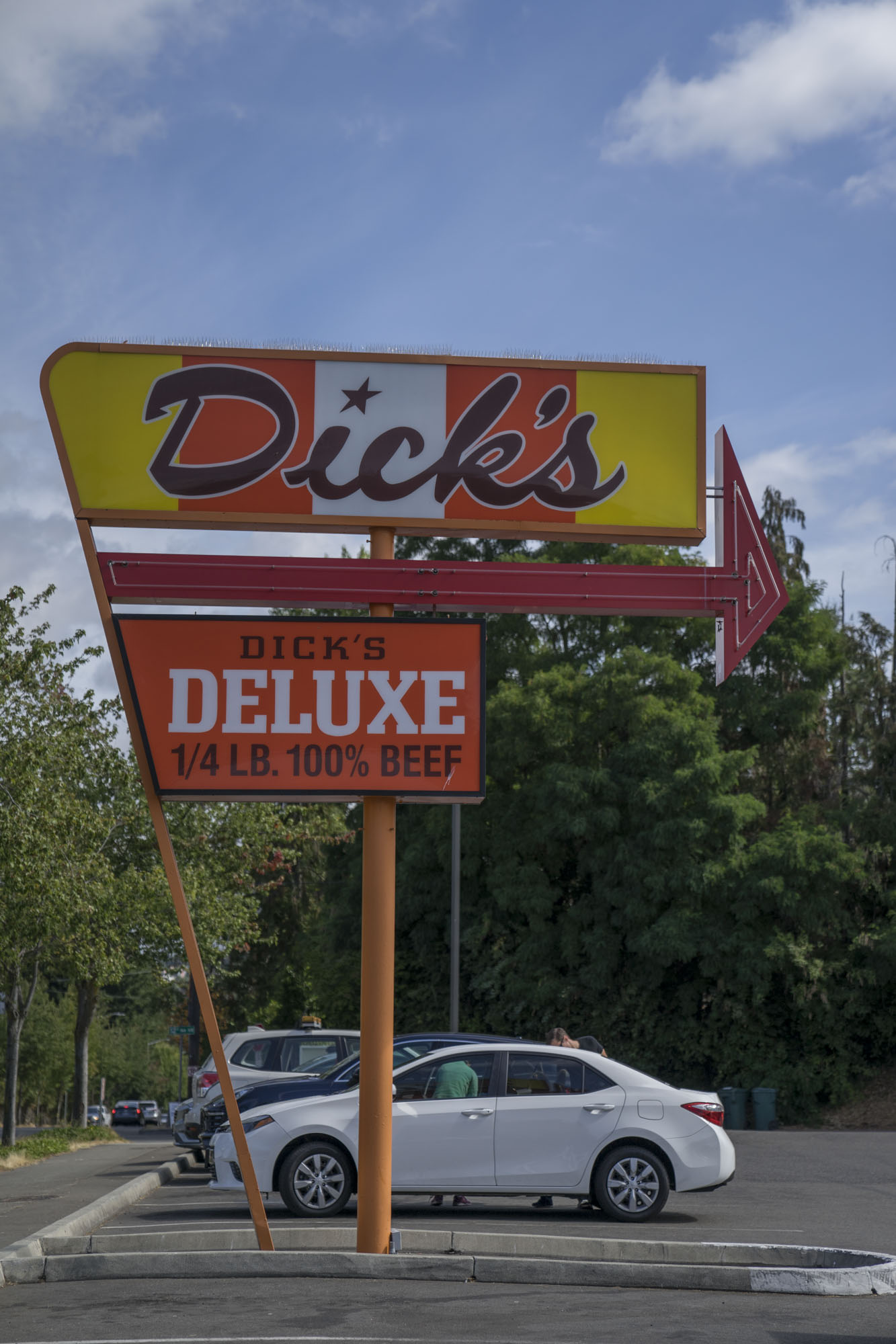 Dick's Drive Thru Sign in Seattle.