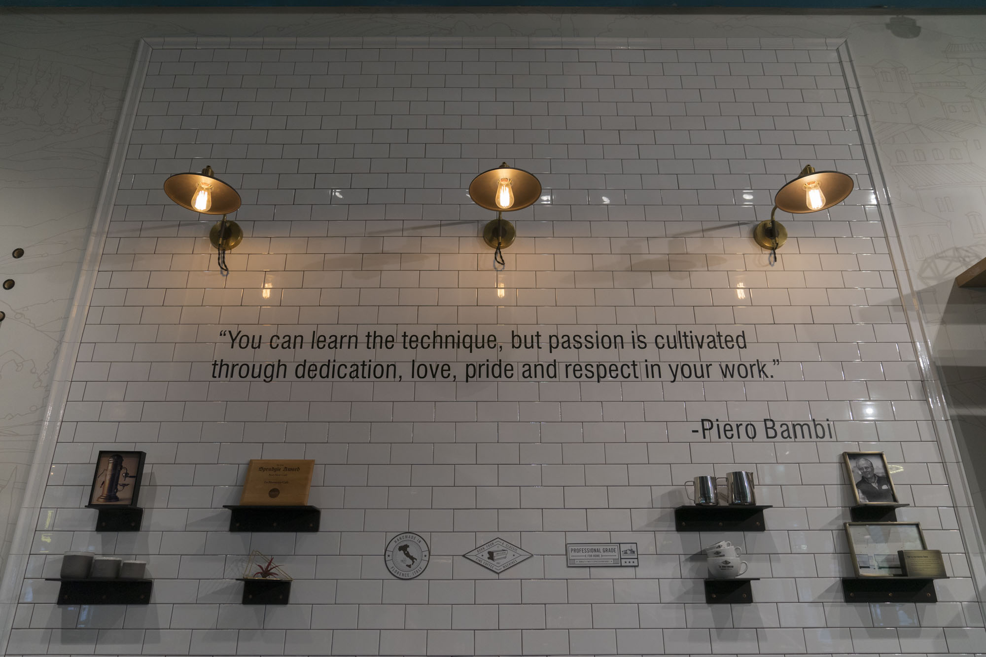 """""""You can learn the technique, but passion is cultivated through dedication, love, pride and respect in your work"""" -Piero Bambi"""