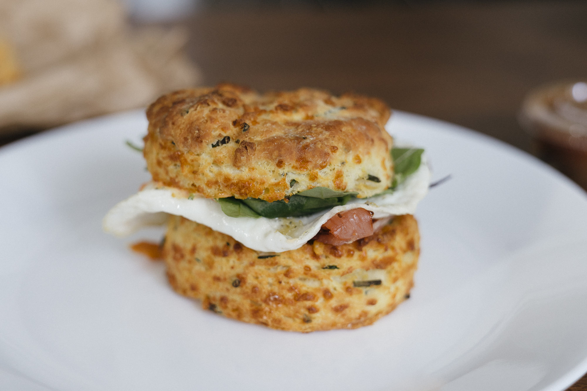 An egg sandwich at Morsel in Seattle.
