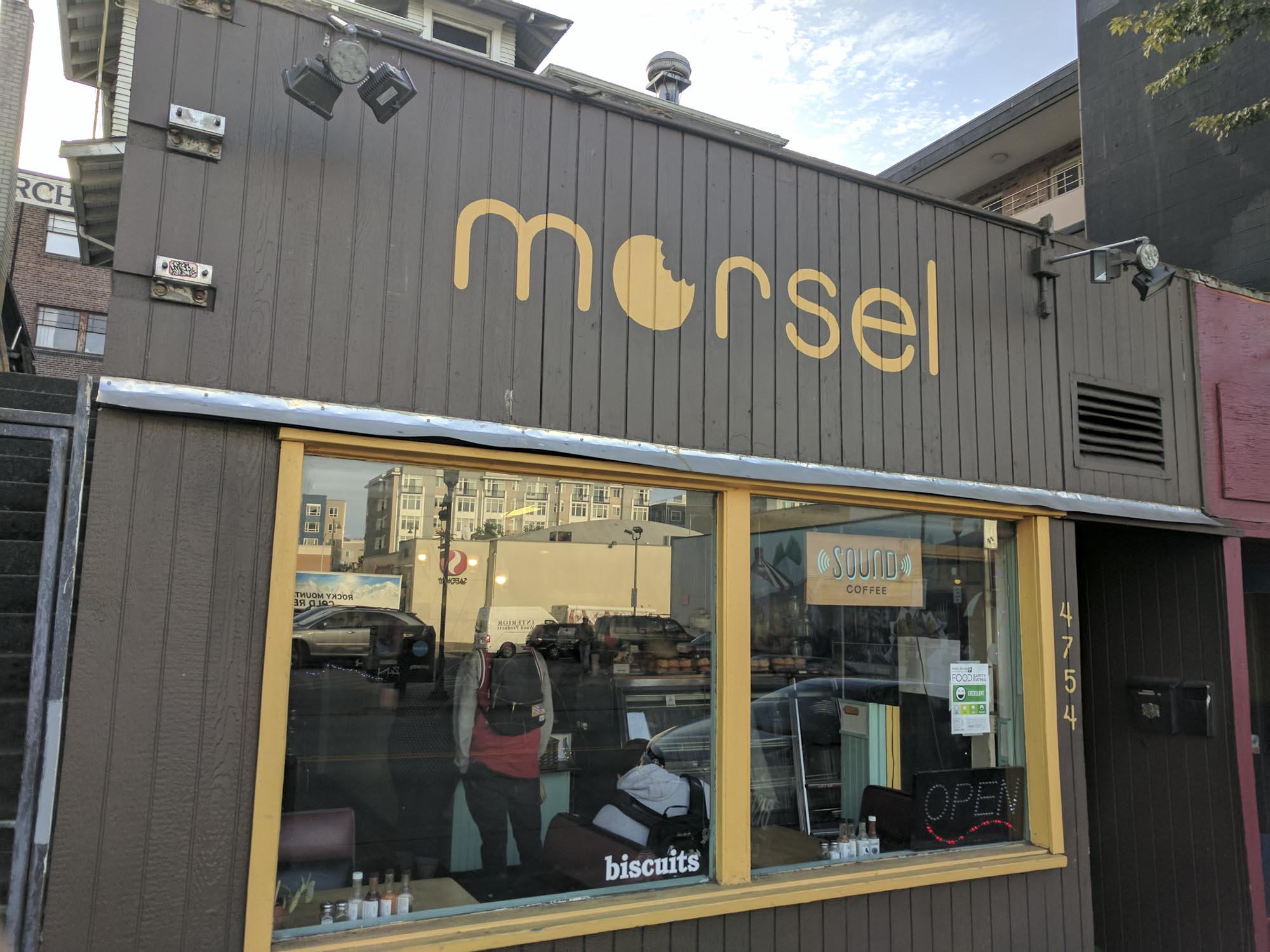 The outside of Morsel in Seattle.