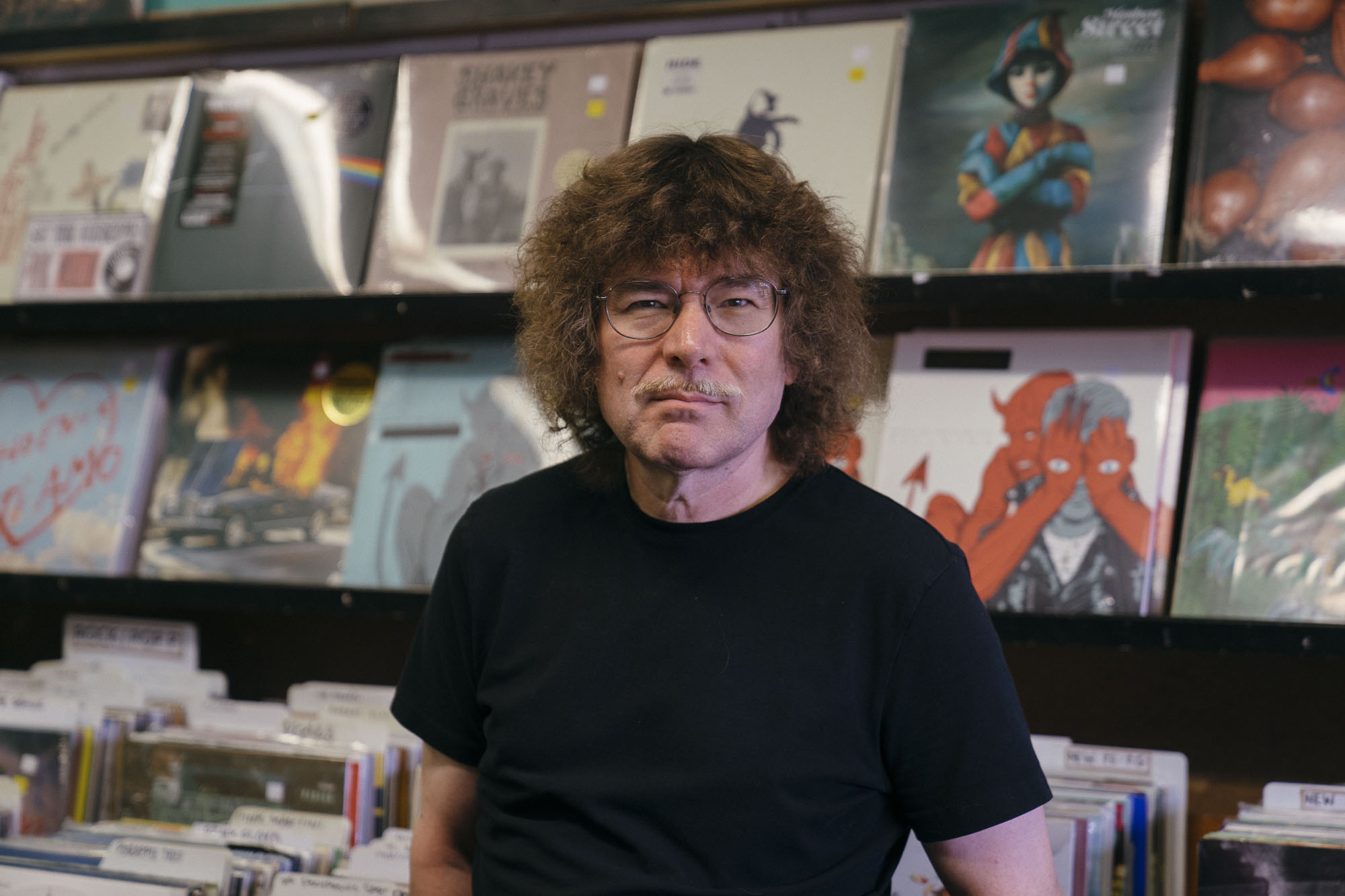 Terry Currier owner of Music Millennium in Portland, Oregon for Dirt Road Travels Best Records Stores on the West Coast