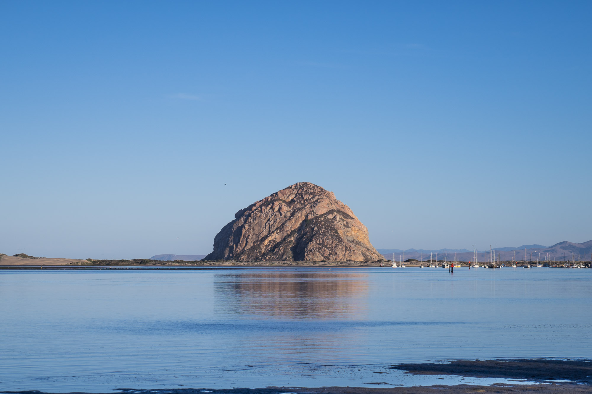 Morro Rock at Morro Bay in San Luis Obispo, California.