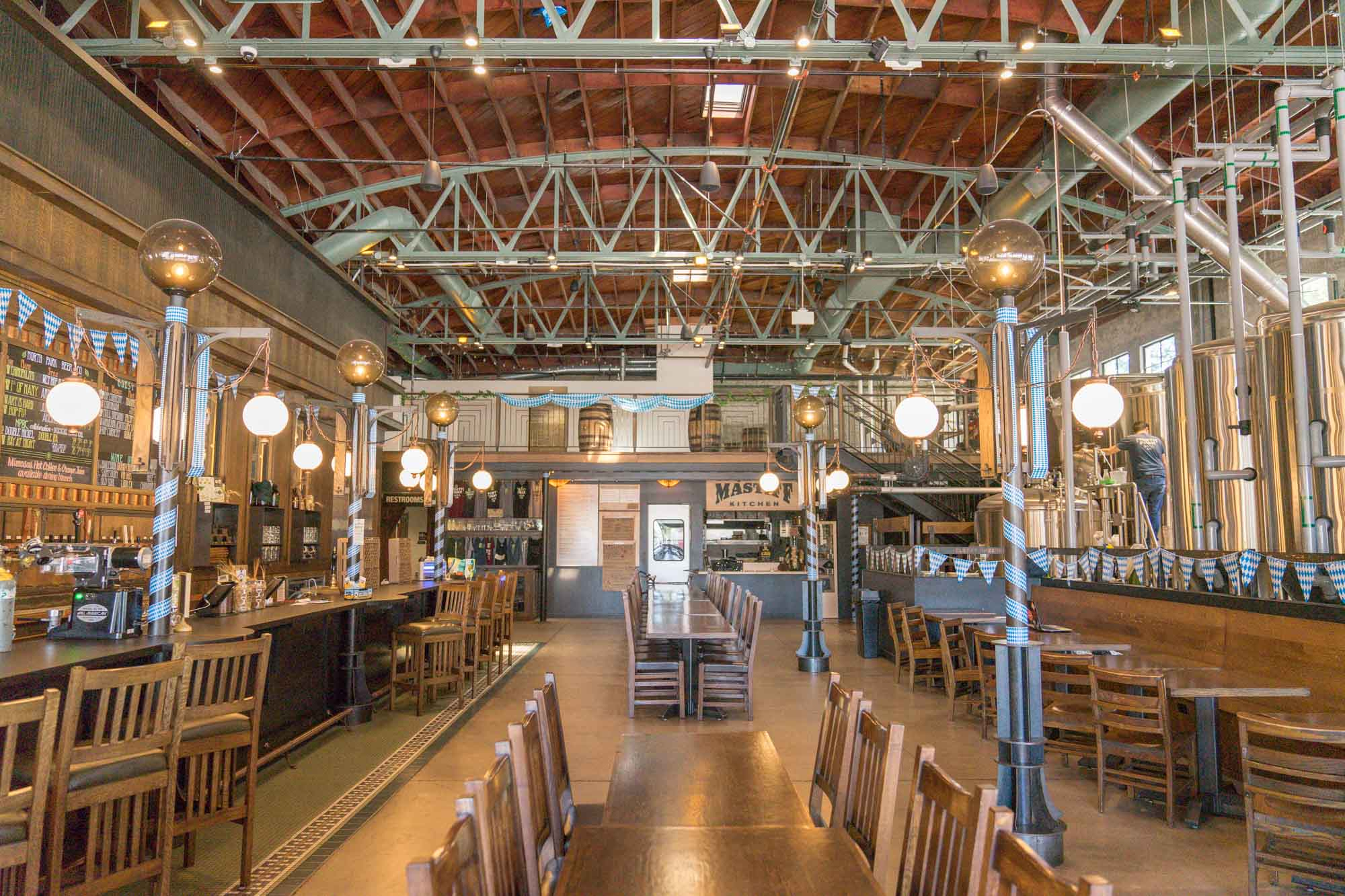The bar and restaurant at North Park Beer Co. in San Diego, California for Dirt Road Travels