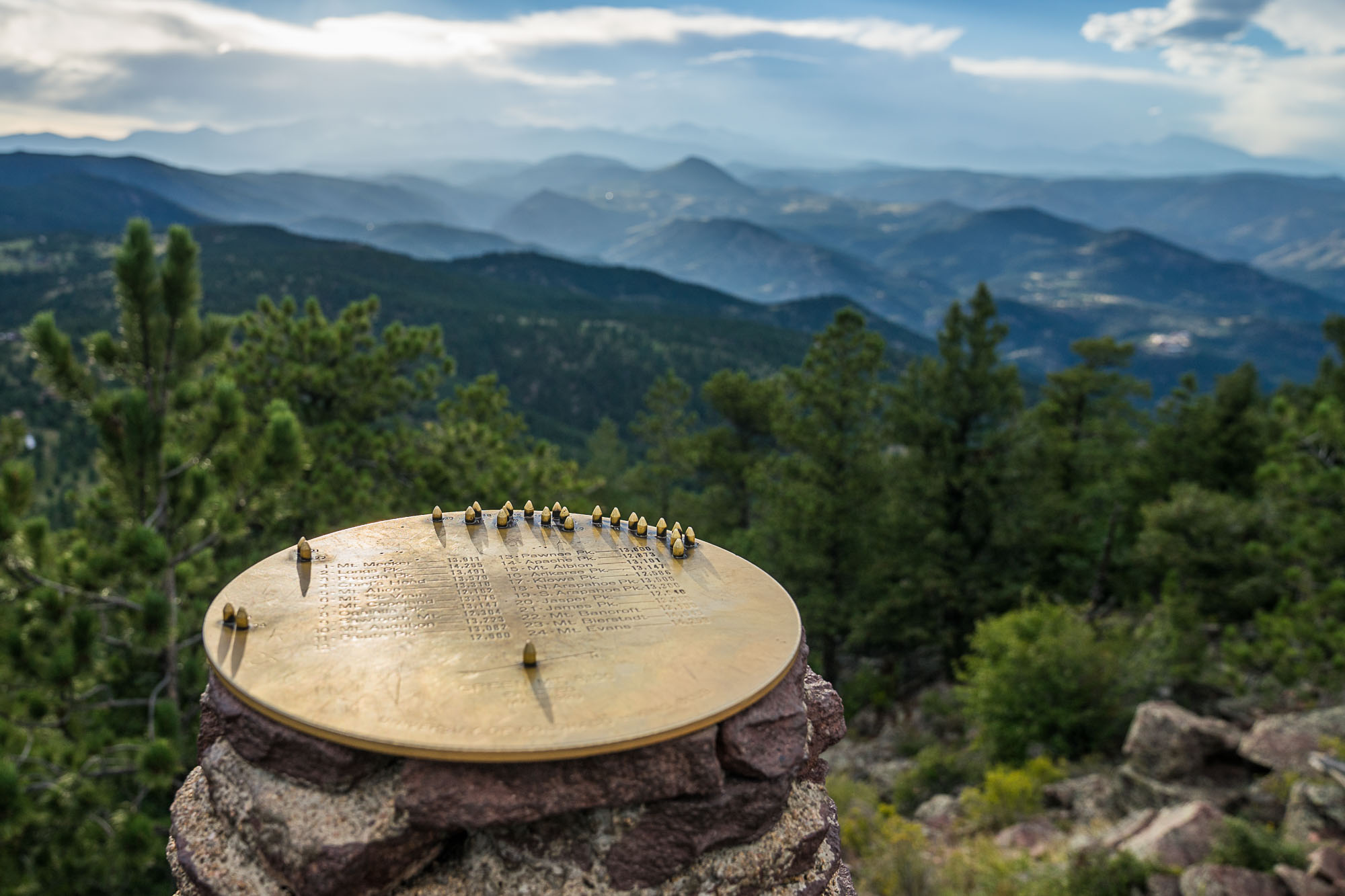 a view of an object from the top of green mountain in boulder for dirt road travels