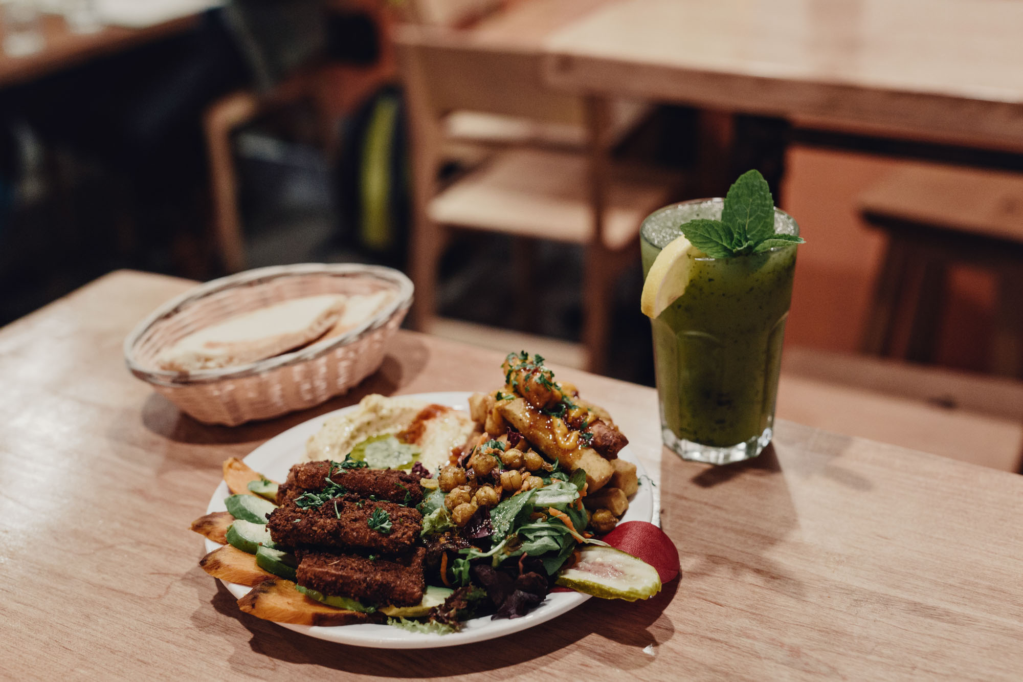 Lunch at Chickpea in Vancouver, British Columbia as part of the Dirt Road Travels city guide.