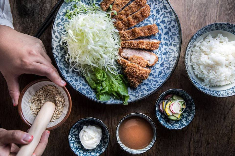 Dosanko japanese restaurant spread in Vancouver, Canada for Dirt Road Travels