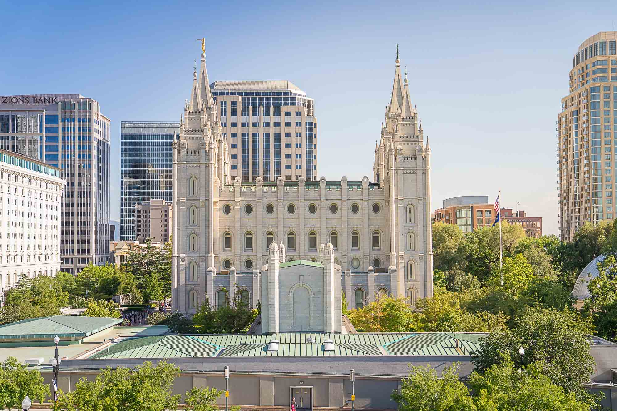Downttown Salt Lake with Mormon Temple