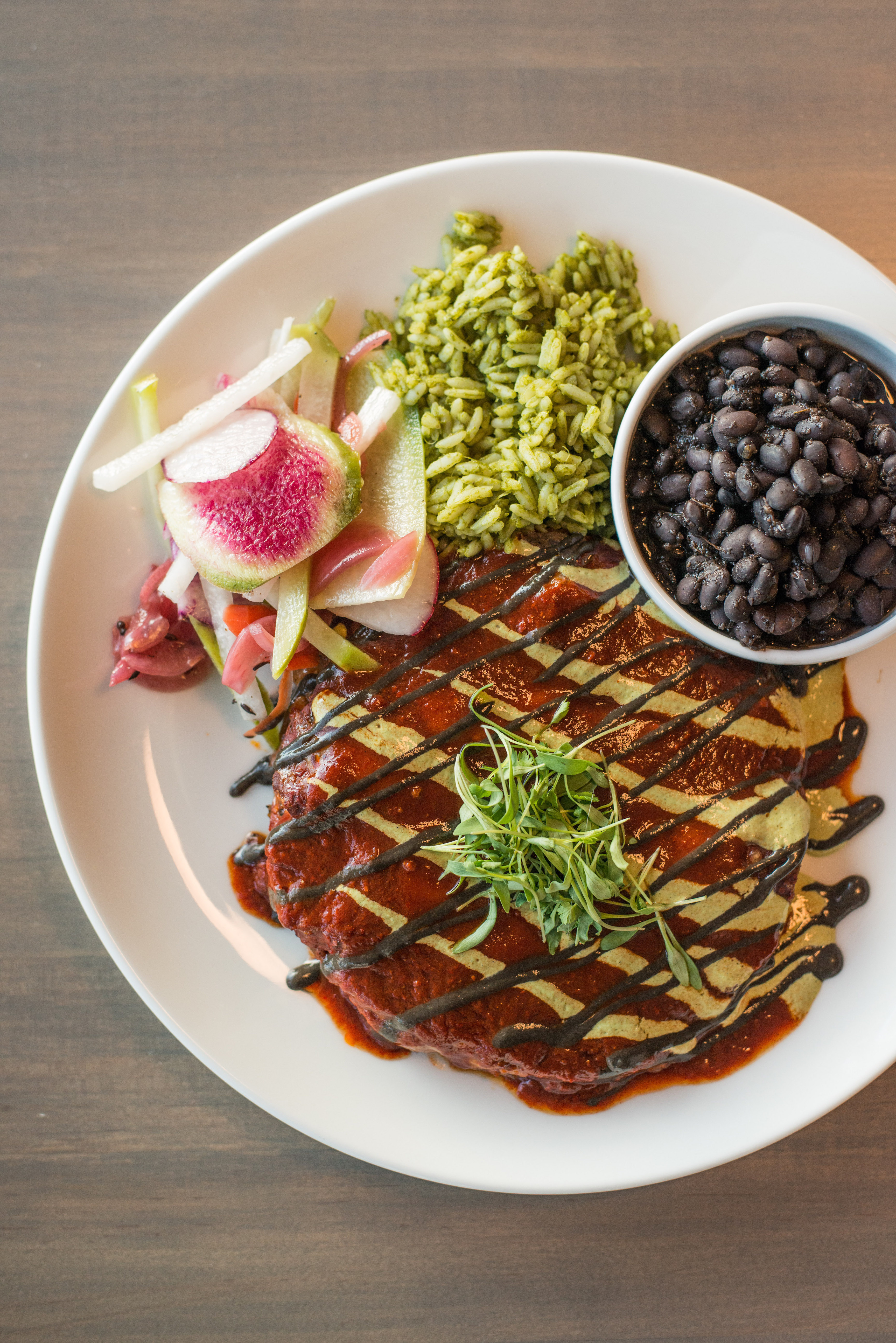 A colorful meal at Santo in Boulder, Colorado as part of the Dirt Road Travels city guide.