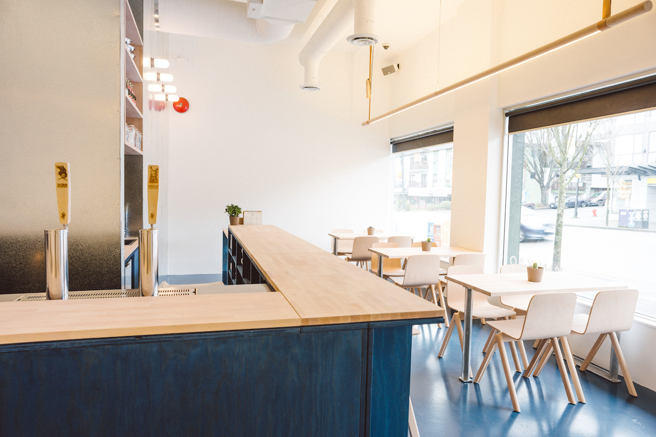 Interior of Kin Kao in Vancouver, British Columbia as part of the Dirt Road Travels city guide.