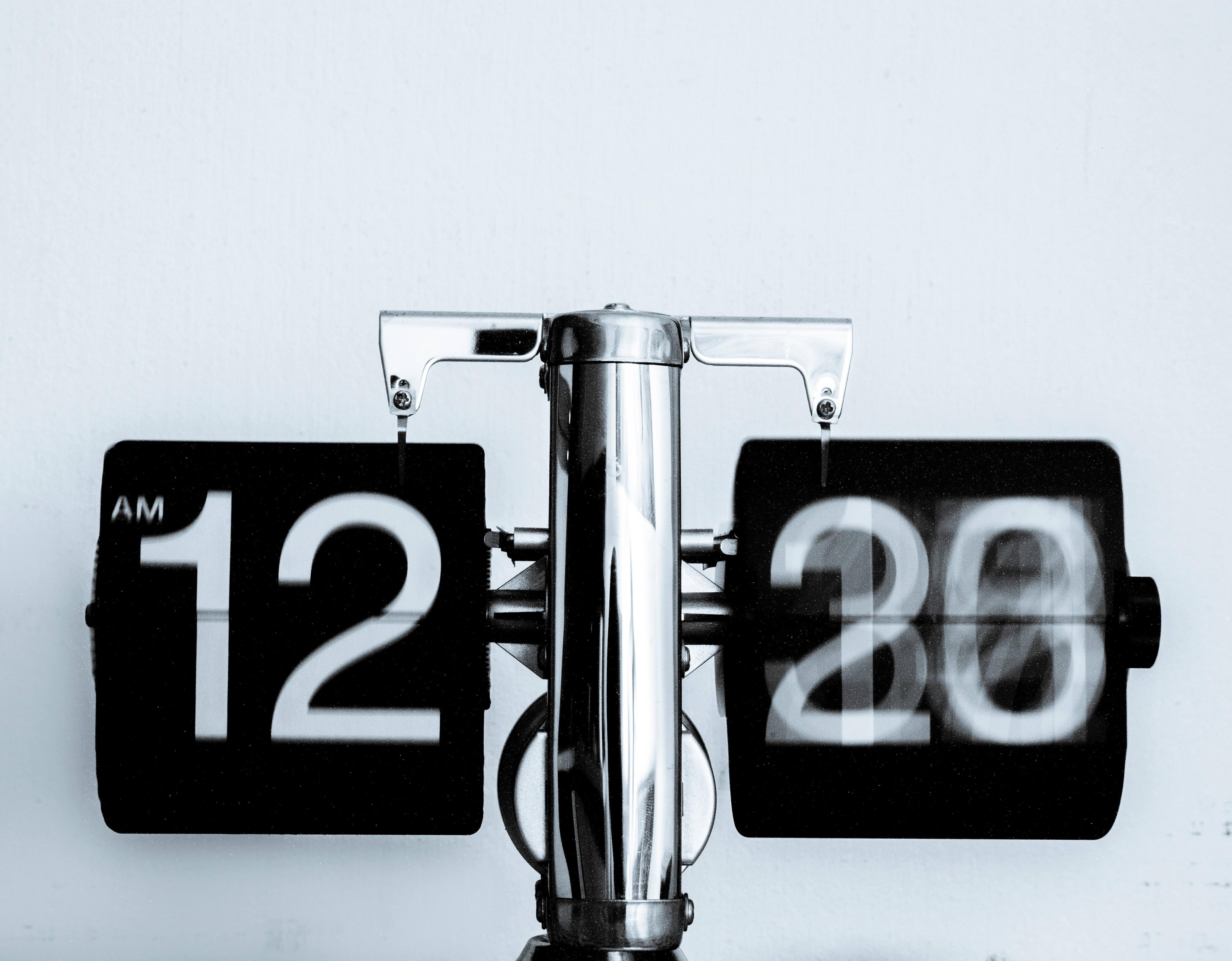 Relógio mudando de hora