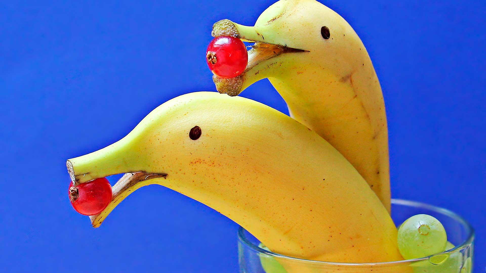 Bananas e tomatinhos