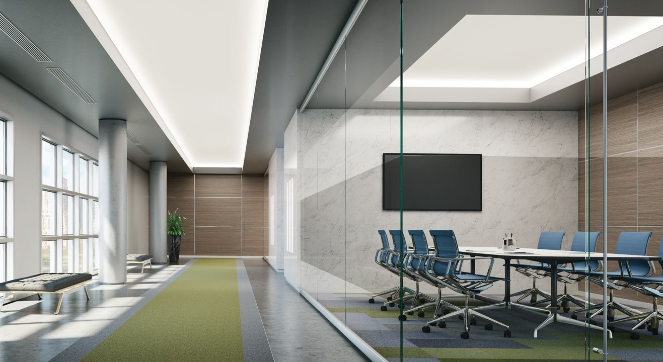 Interior application photo of cove lighting fixtures from Lumenwerx