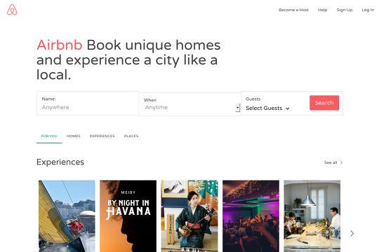 Airbnb Webflow
