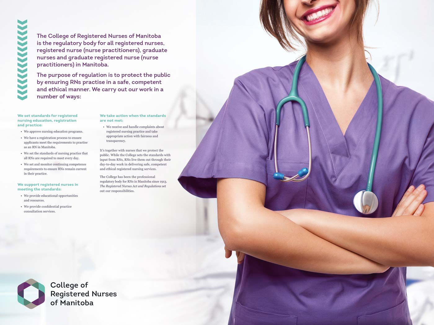 College of Registered Nurses of Manitoba annual report sample page