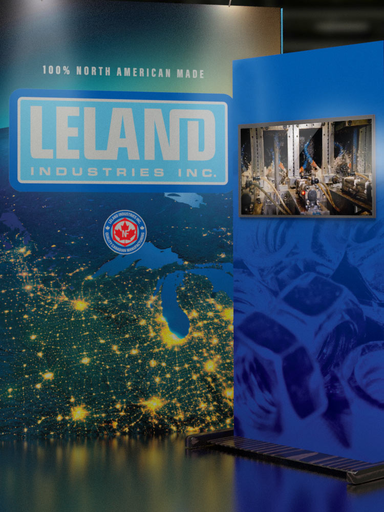Leland trade show booth
