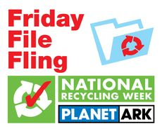National Recycling Week Friday File Fling Logo