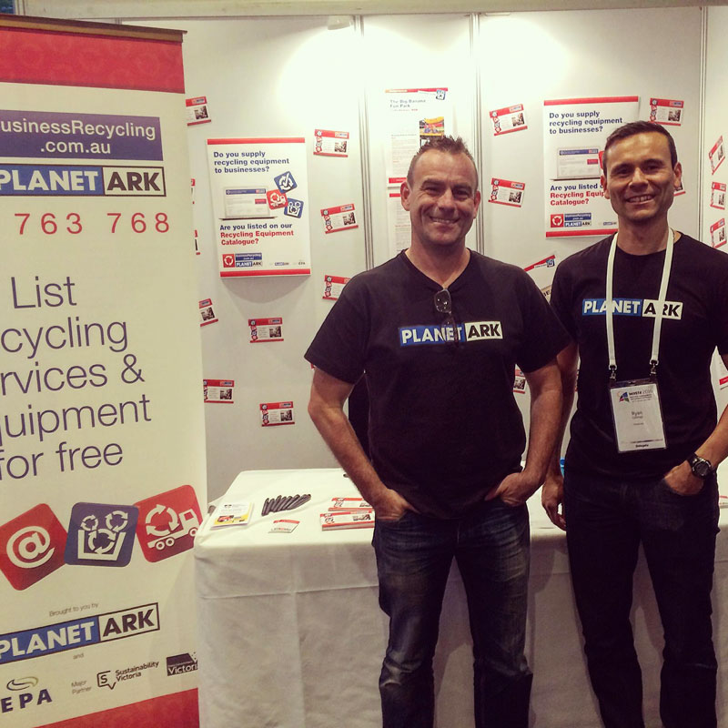 Brad Gray and Ryan Collins at the Coffs Waste Conference.