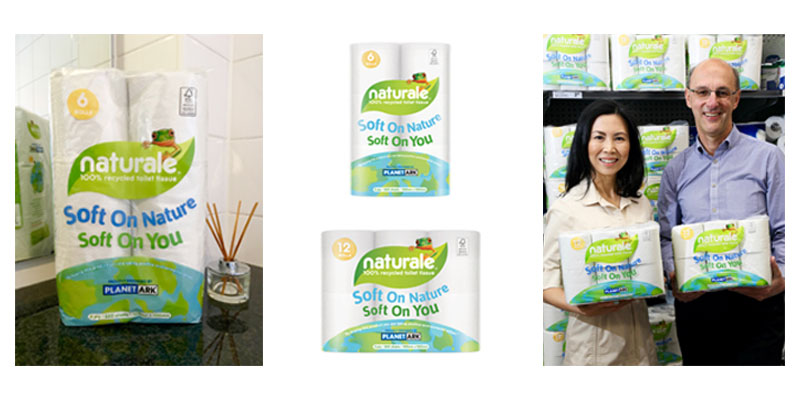 Naturale 100% recycled tissue products