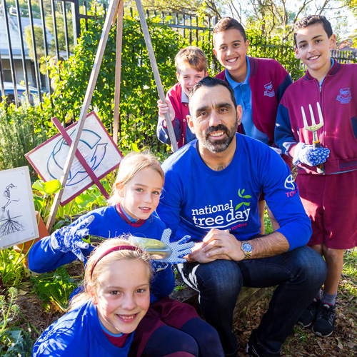 National Tree Day 2016 Media Ambassador Adam Goodes