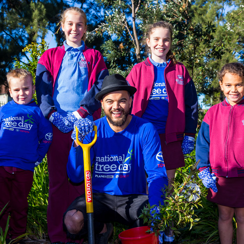 National Tree Day 2016 Media Ambassador Guy Sebastian
