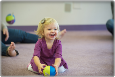 Photo of a toddler in a Kindermusik class