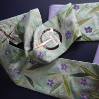 The green stole commissioned for Rev. Sheilagh Kesting