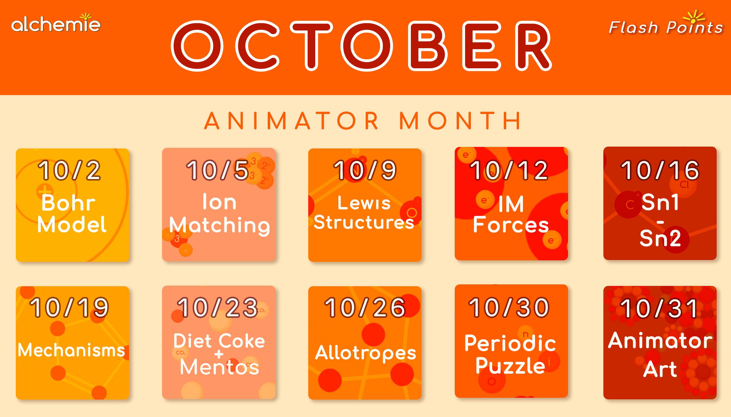 Alchemie Animator Month October 2017