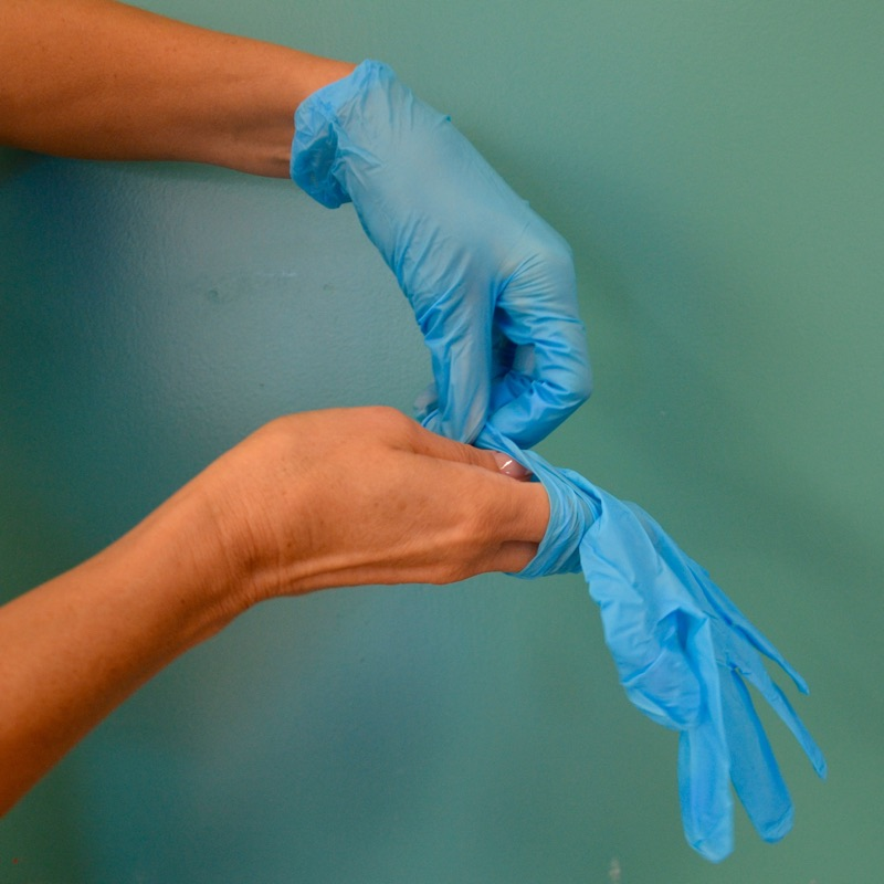 Preparing for sterile cleaning at a medical center