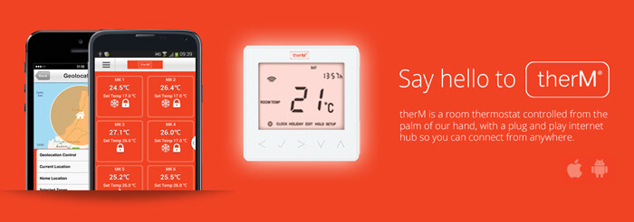 therM smart app controlled underfloor heating thermostat