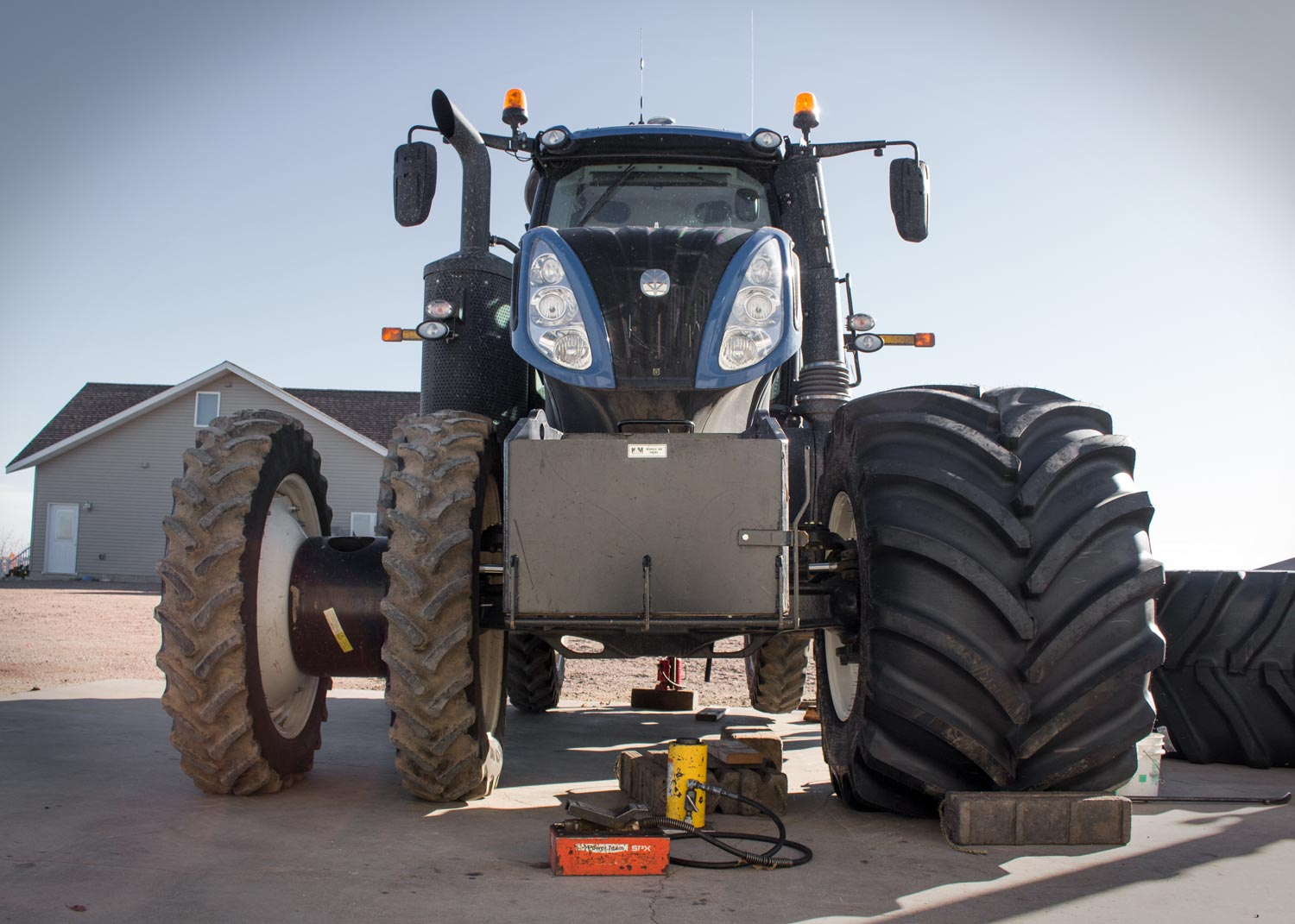 Goodyear LSW Super Singles on row-crop tractor