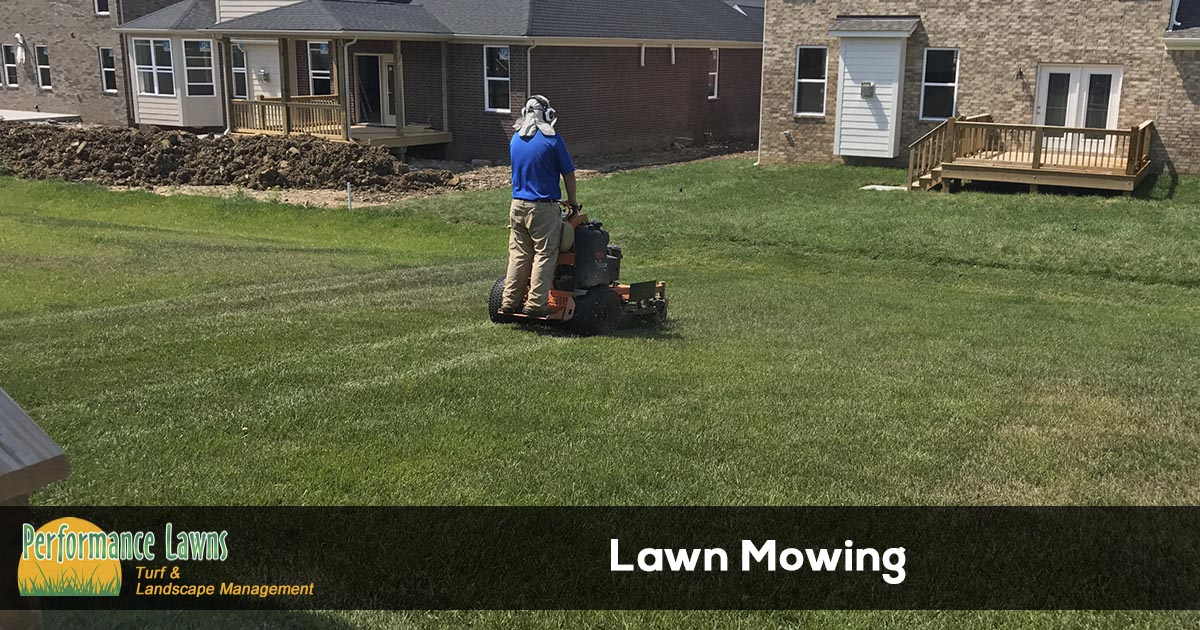 Mowing grass in Mt. Juliet Tennessee