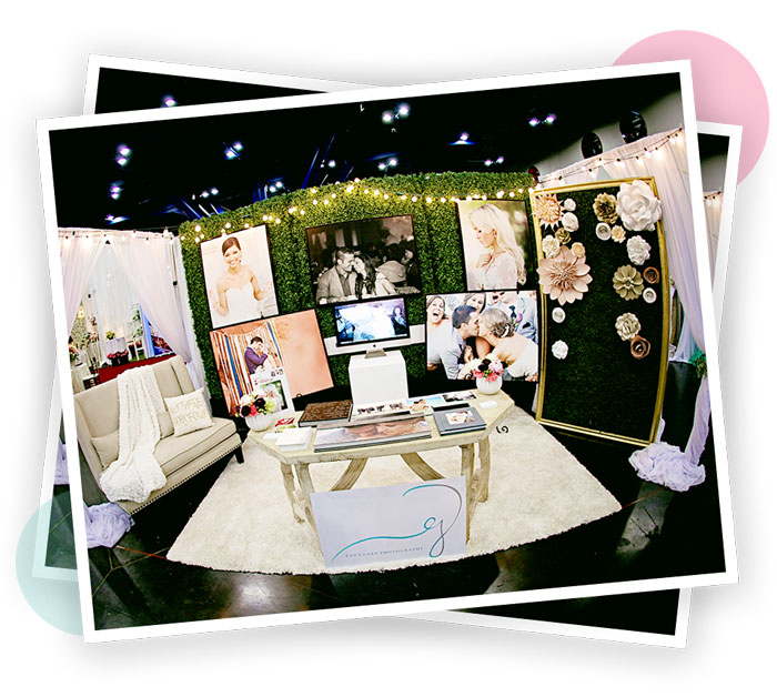 An amazing booth from one of 400 vendors attending Bridal Extravaganza