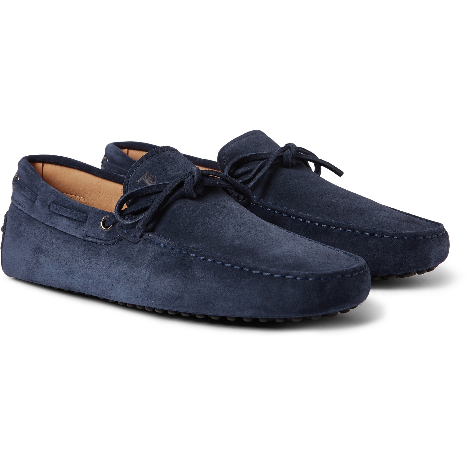 Tods Gommino Suede Leather Drivers in Navy