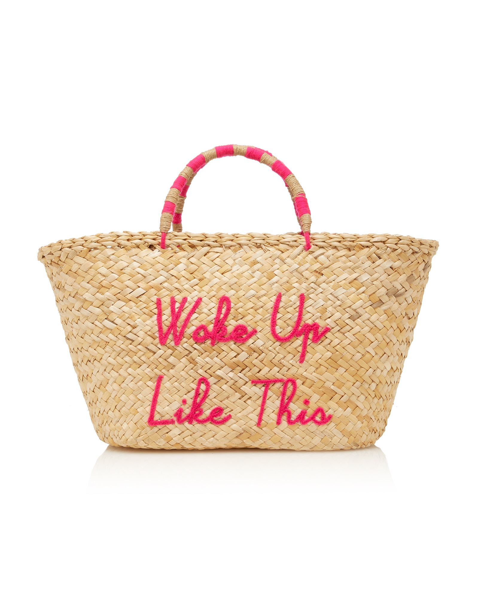 Pink We Are Poolside Suprette Woke Up Like This Bag