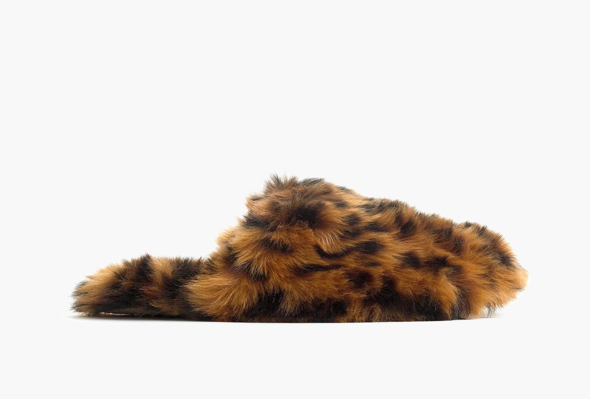 J.Crew Leopard Fuzzy Slipper
