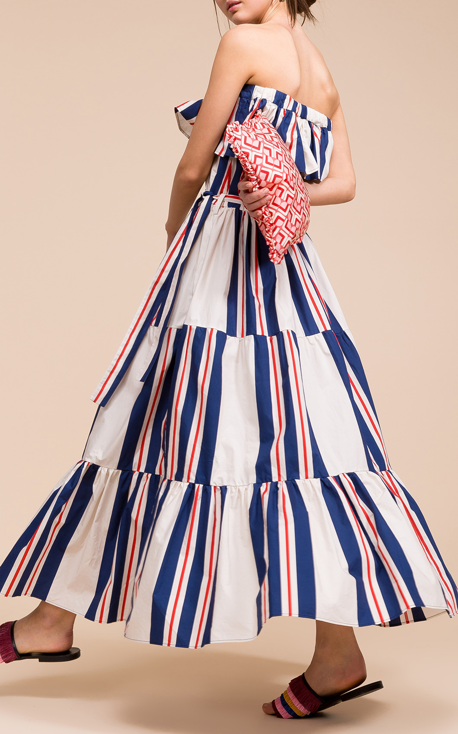 La Double J Yatch Maxi in Blue and Red Stripe